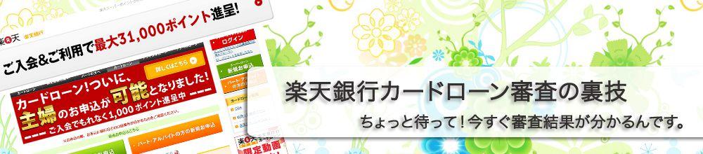 楽天銀行カードローン審査の裏技 PC用ロゴ画像